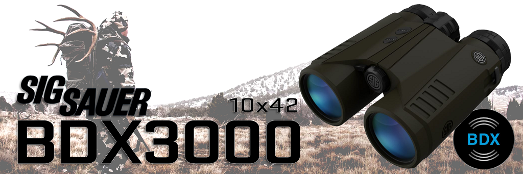 In Stock: SIG KILO BDX3000 10x42 Rangefinding Binoculars